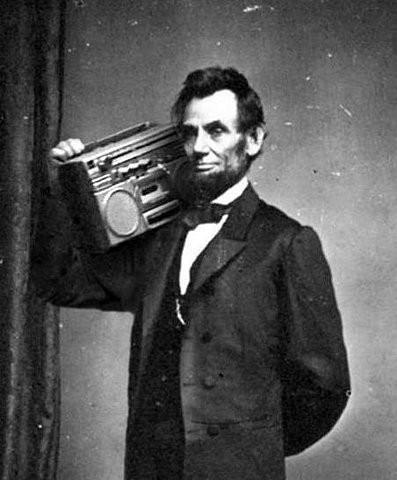 Abe likes a good tune!